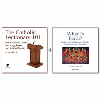 Bundle: The Catholic Lectionary: A Treasure for Liturgy and Prayer + Letting God's Spirit Shape All Our Actions: A Retreat with Luke's Gospel - 12 CDs Total