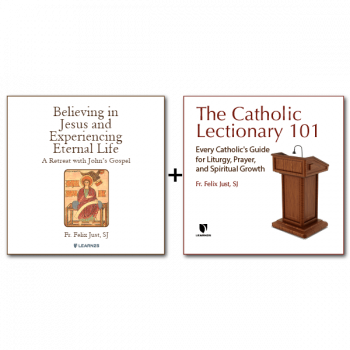 Bundle: Believing in Jesus and Experiencing Eternal Life: A Retreat with John's Gospel + The Catholic Lectionary: A Treasure for Liturgy and Prayer - 13 CDs Total
